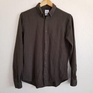 Zara Man Brown Slim Fit Casual Button Down Shirt